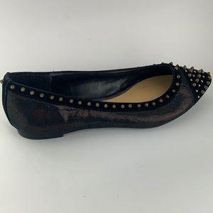 Jessica Simpson Amity Pointed Toe Stud Flats Sz 6